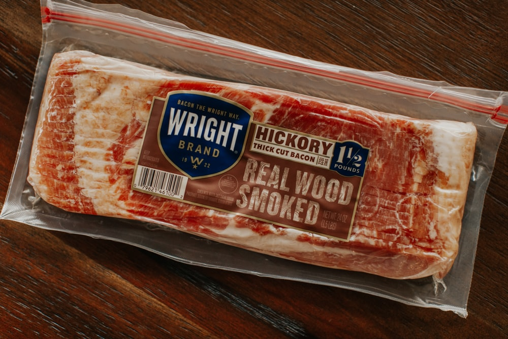 raw meat in plastic pack