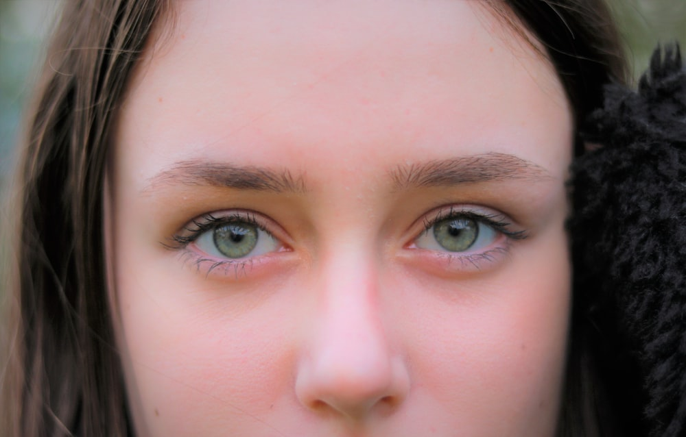 womans face in close up