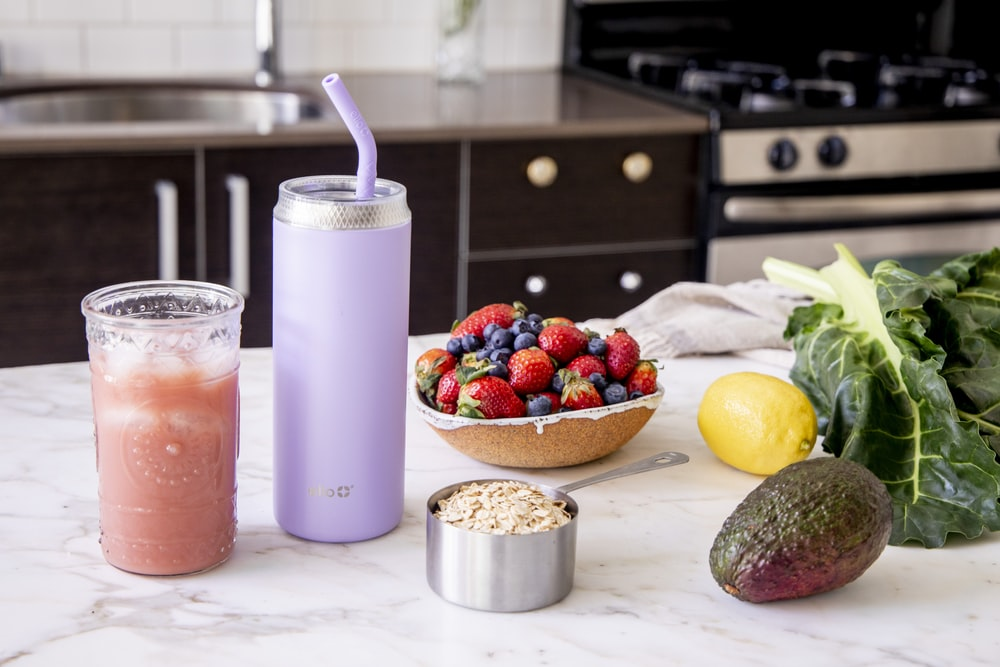 strawberry and banana fruit shake