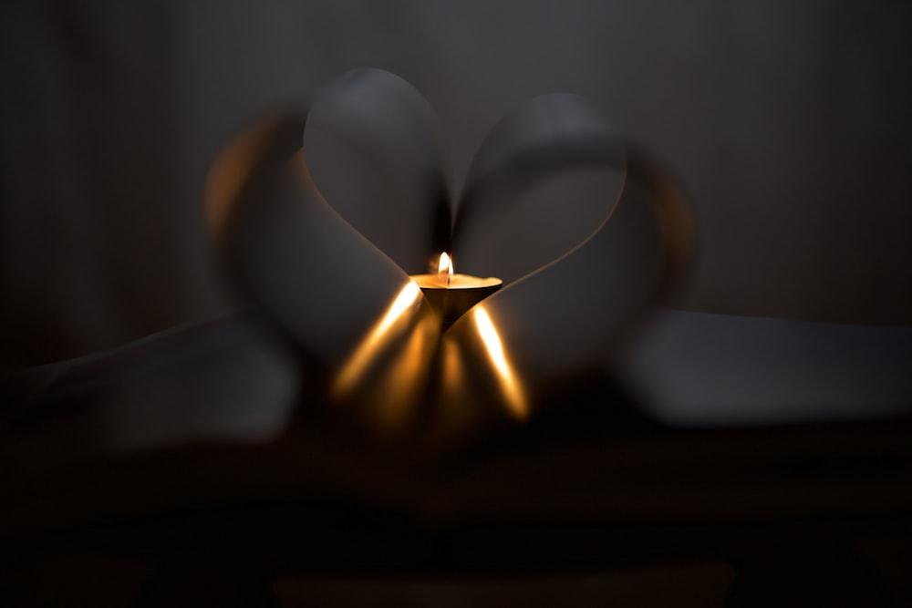 light bulb on dark room