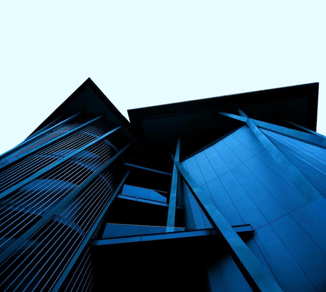 Blue Chaotic Structure - unsplash