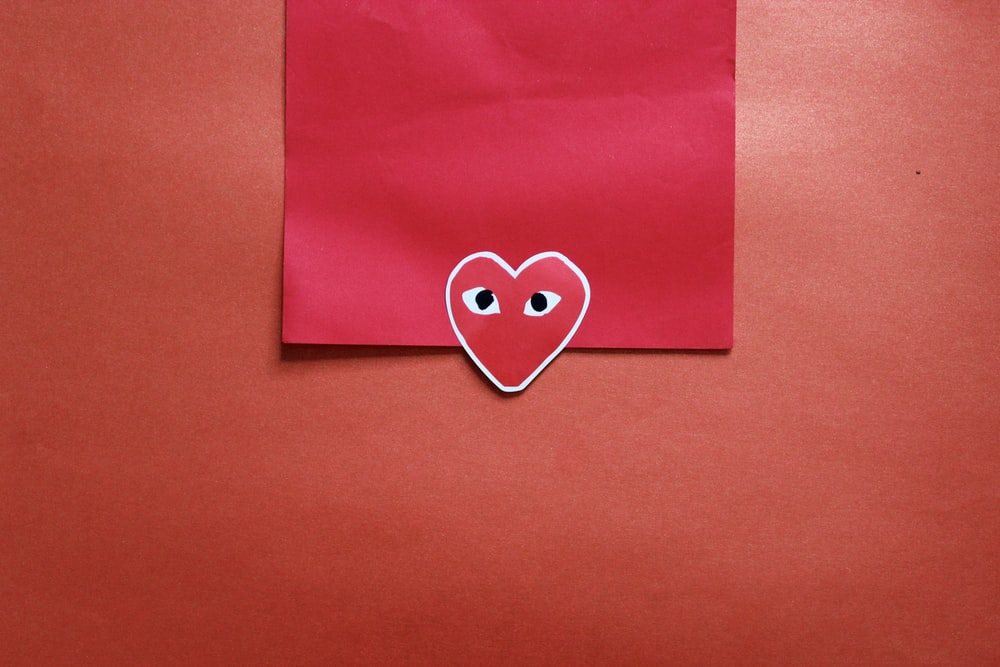 pink paper with heart print