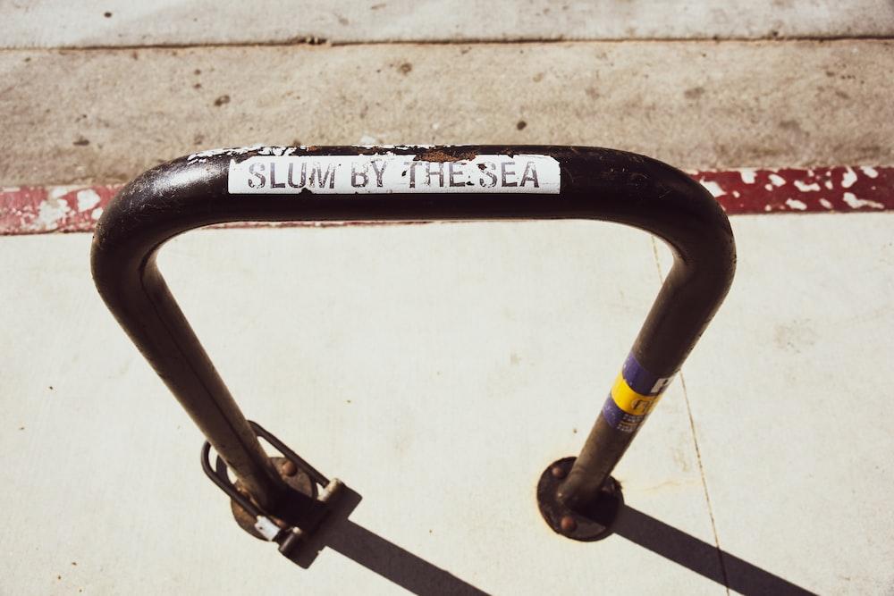 black and yellow bicycle handle bar