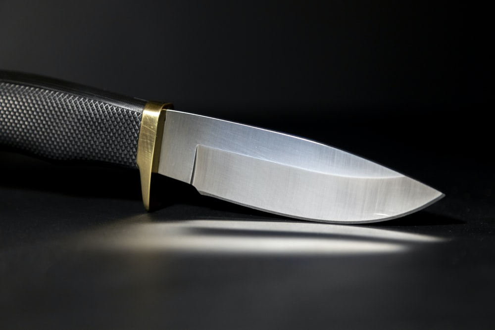 silver and black kitchen knife