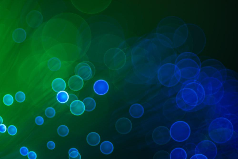 green and white light bokeh