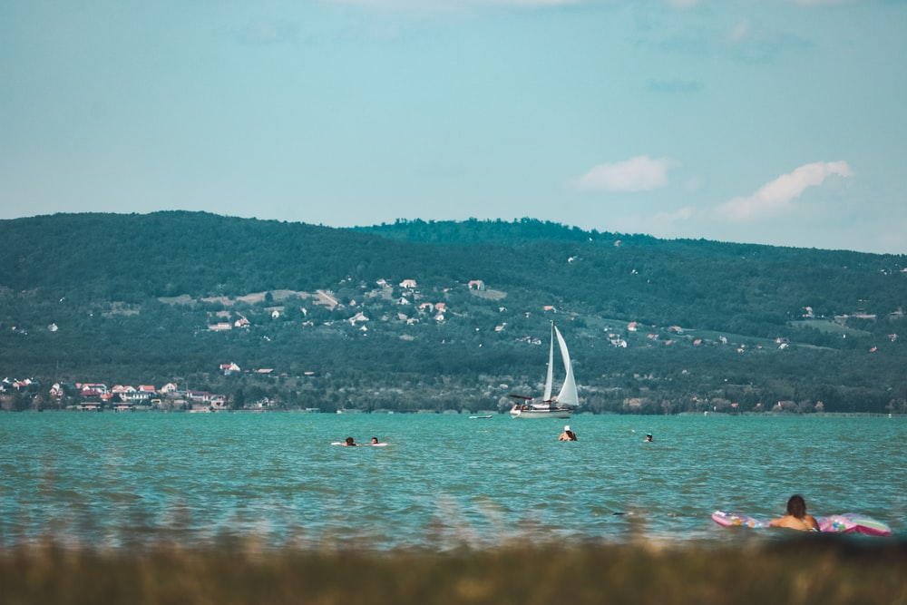 white sail boat on sea during daytime