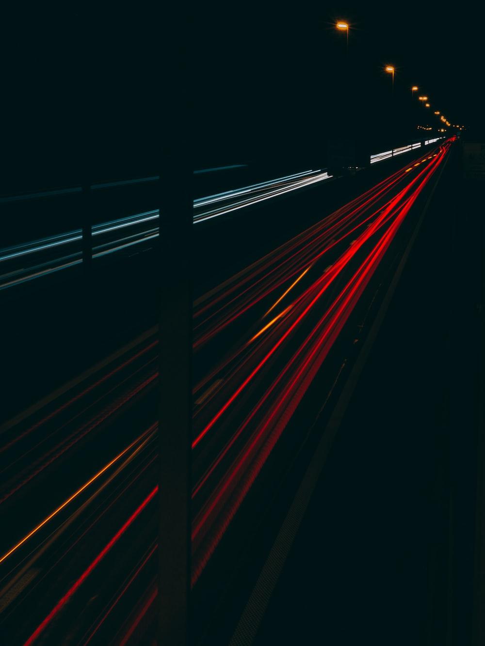 red and black light streaks