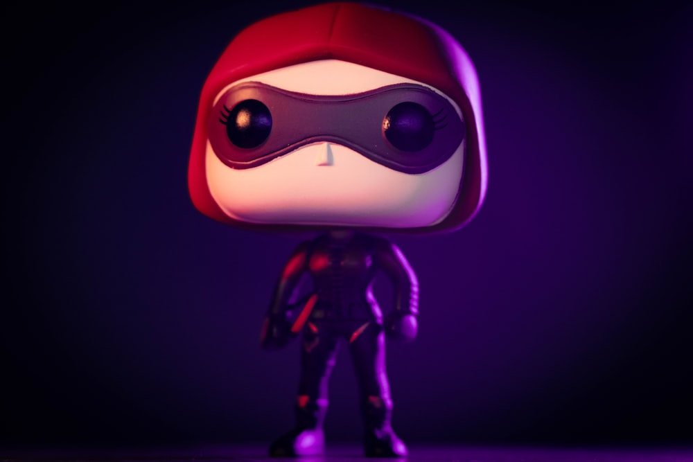 purple and black cartoon character