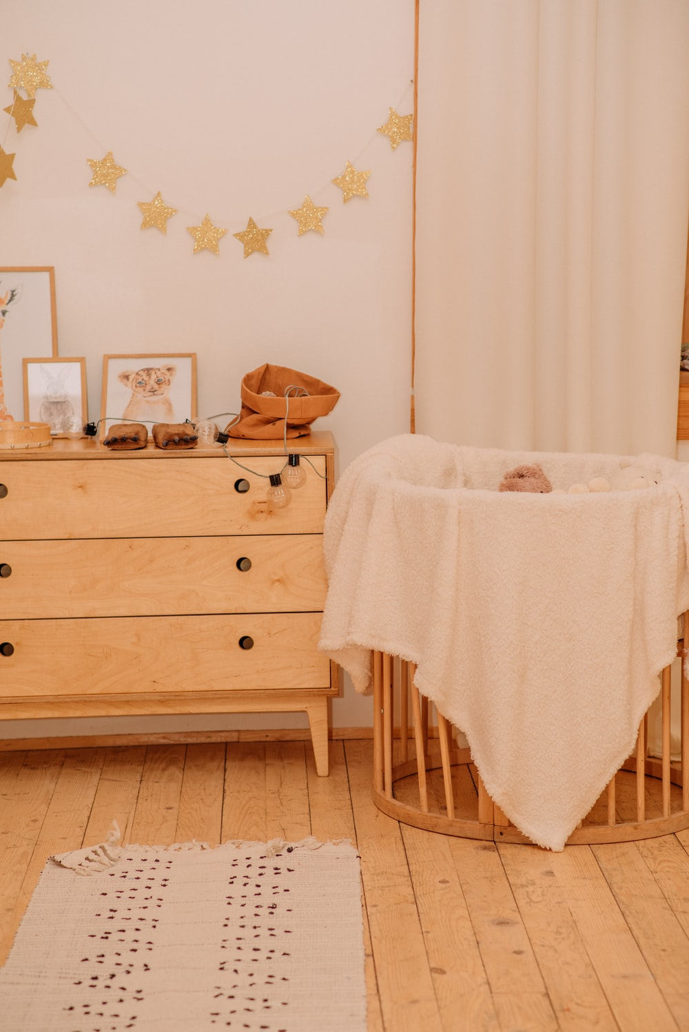 white towel on brown wooden chair