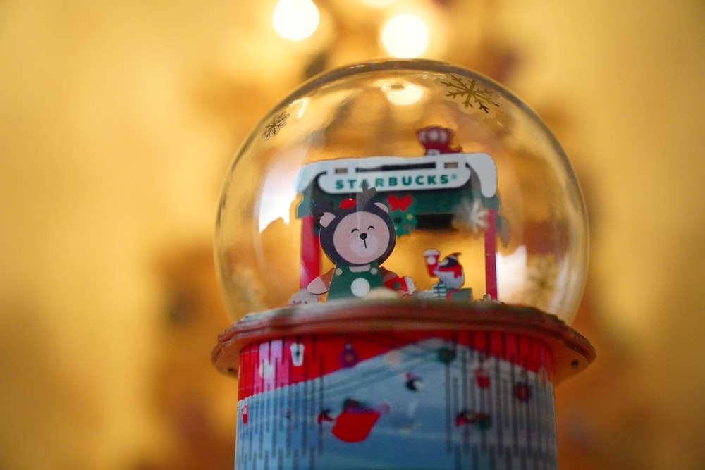 red and white hello kitty snow globe