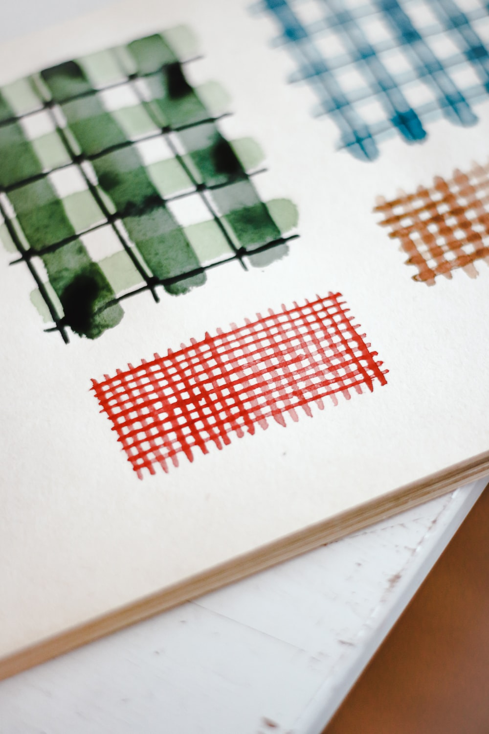 white green and red paper