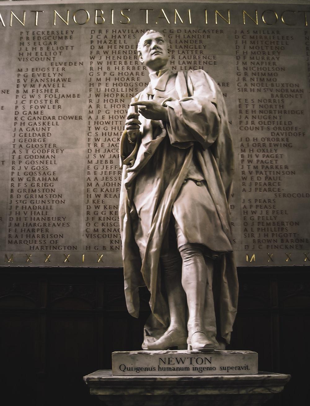 gray concrete statue of man