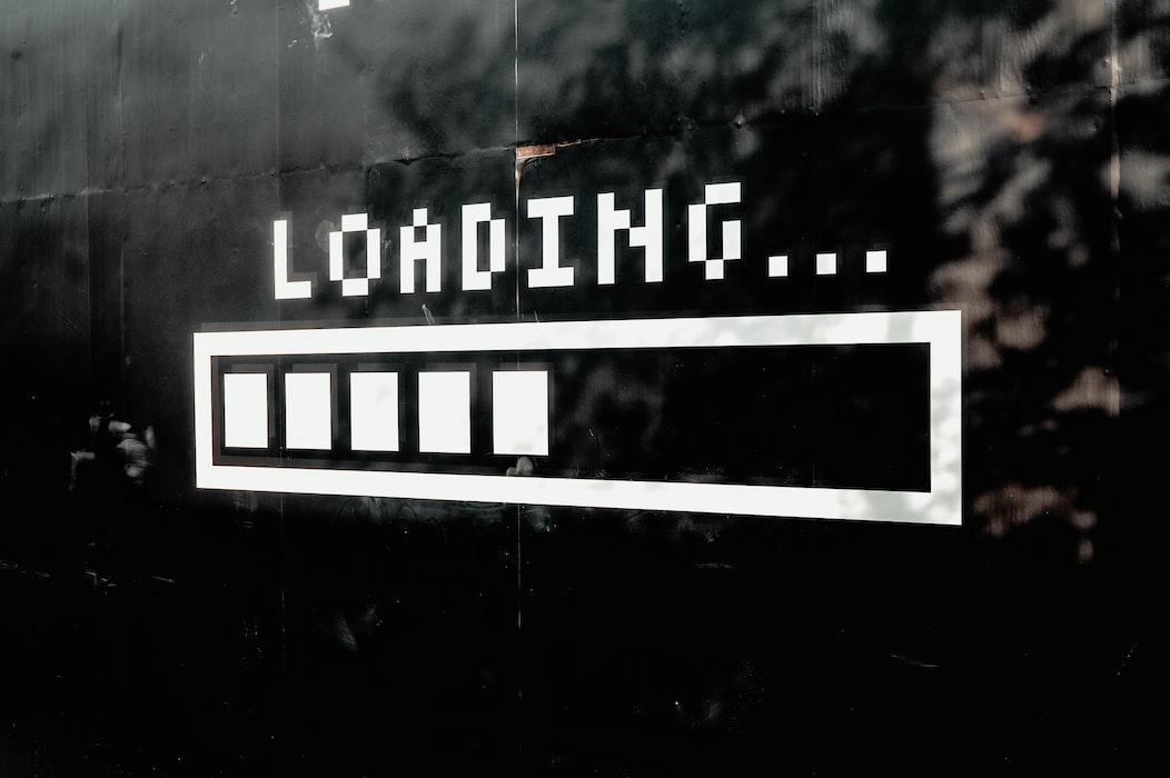 UnSplash Image of a Loading Screen