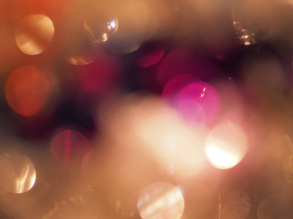 bokeh photography of lights during night time