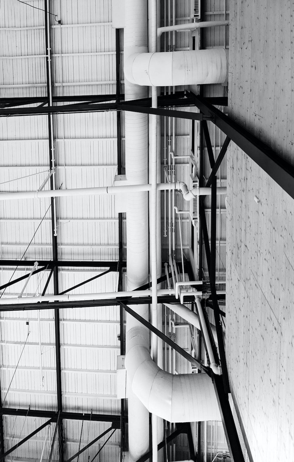 white metal frame on white concrete wall