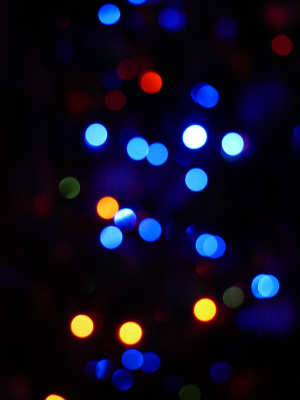 blue and pink lights in the dark