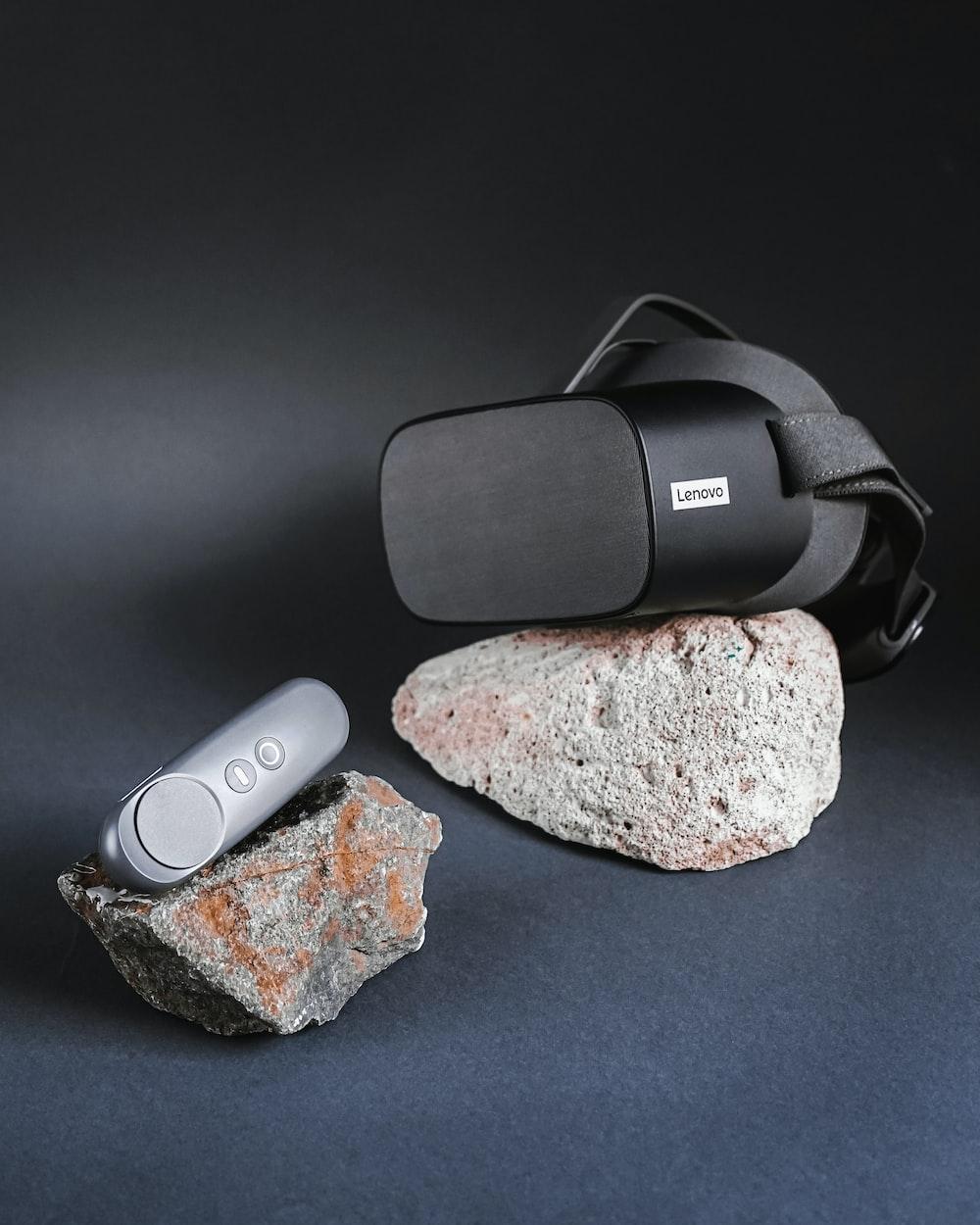 black and gray jbl portable speaker