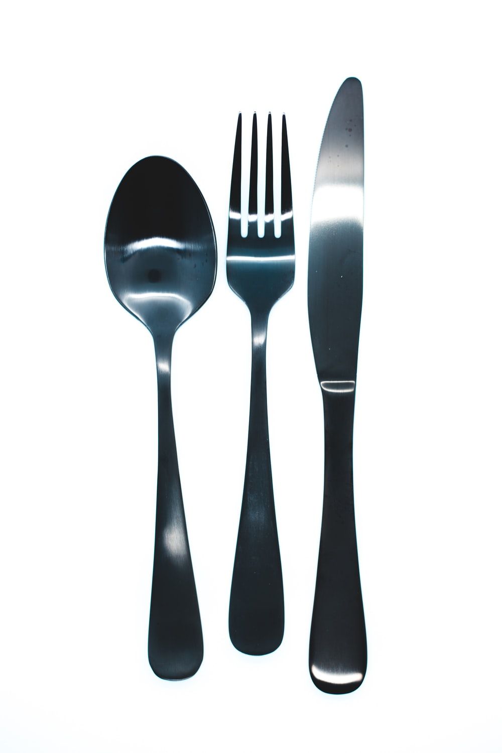 silver fork and spoon illustration