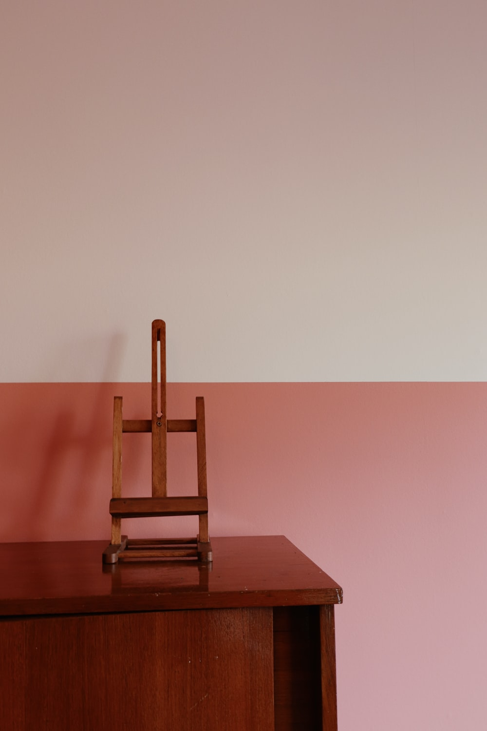 brown wooden chair on brown wooden table