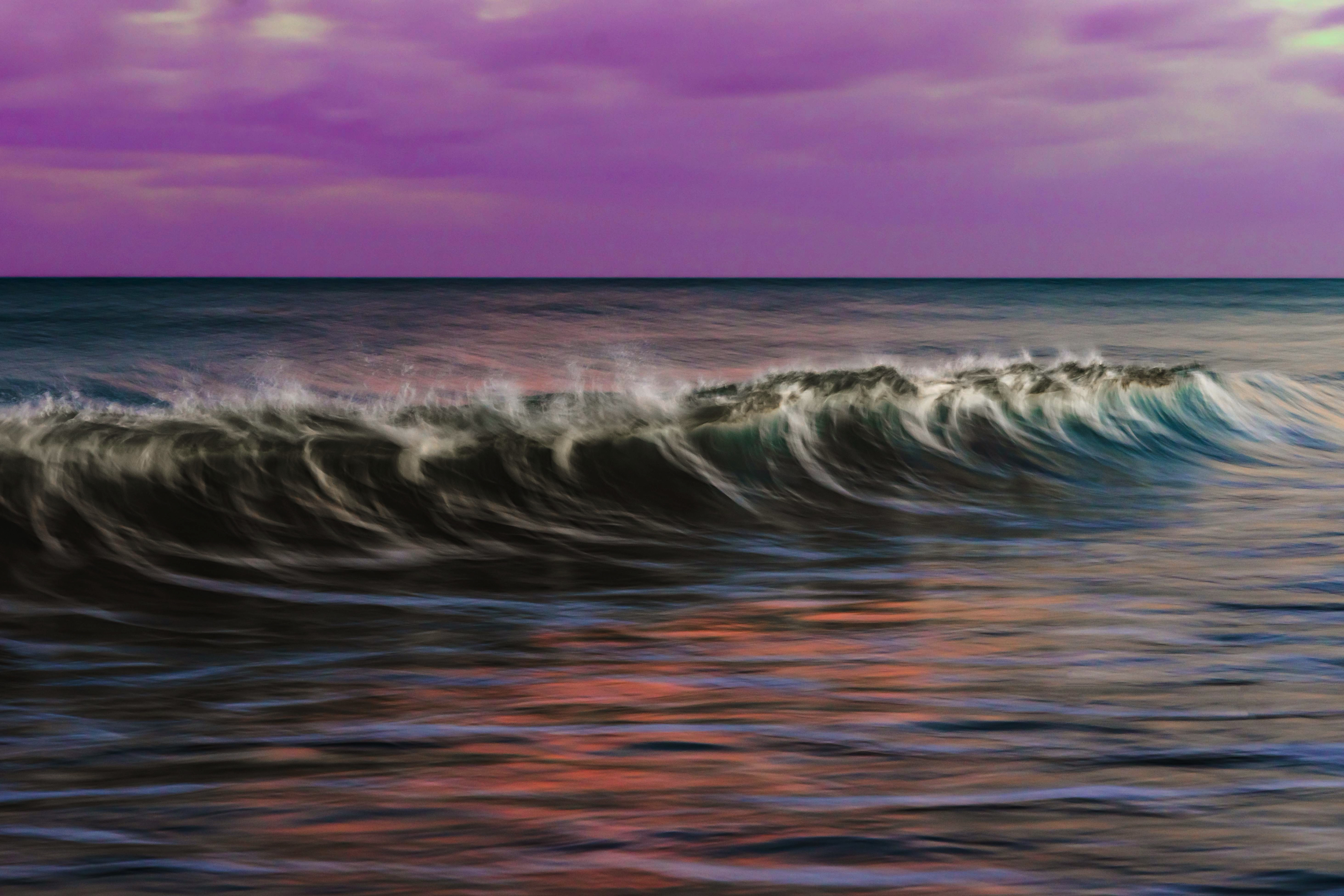 Abstract wave on water with slow shutter speed