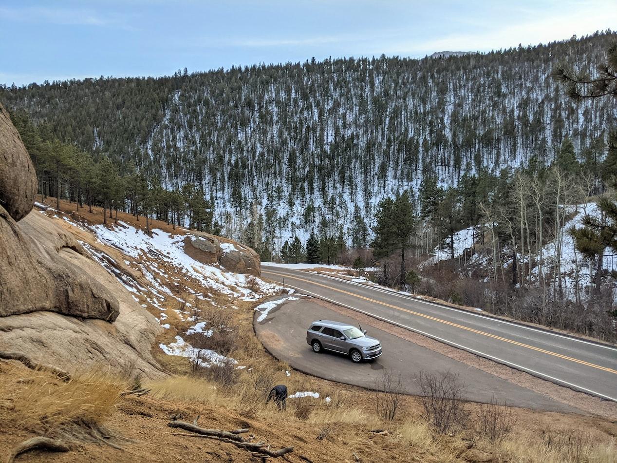 Dodge Durango in the mountains