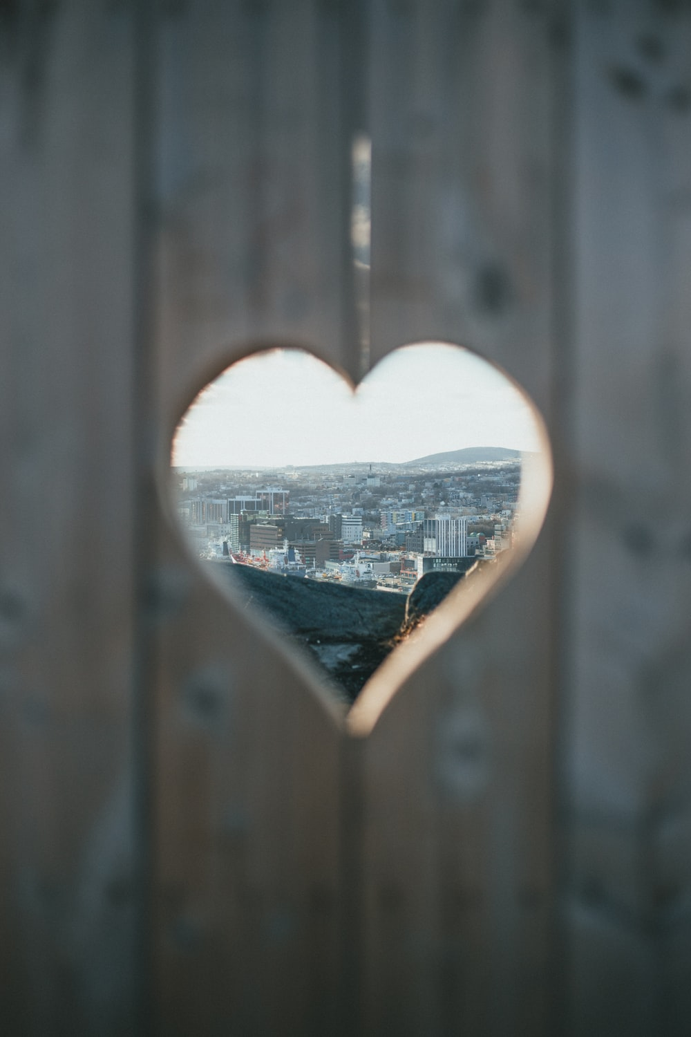 heart shaped brown wooden frame
