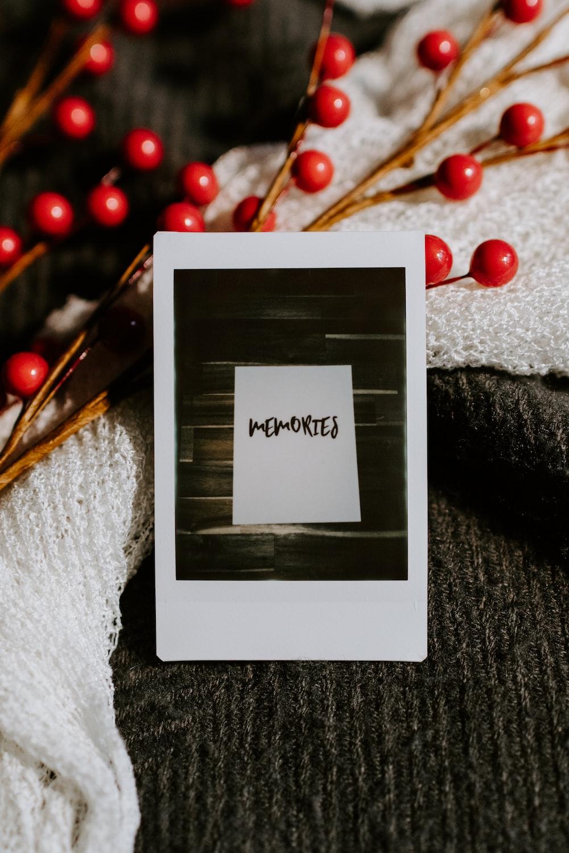 white ipad mini on black textile