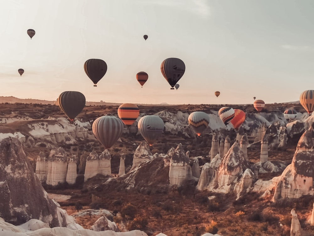 hot air balloons on air during daytime