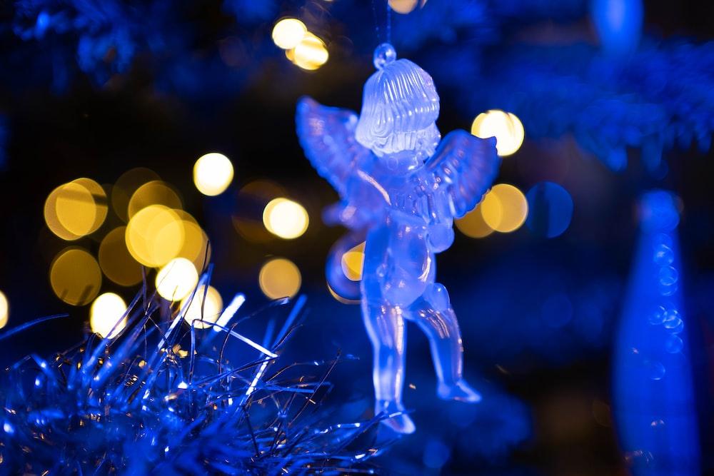 blue string lights on blue string lights