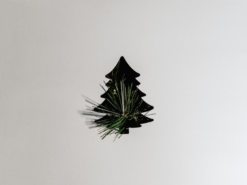 black star on white wall