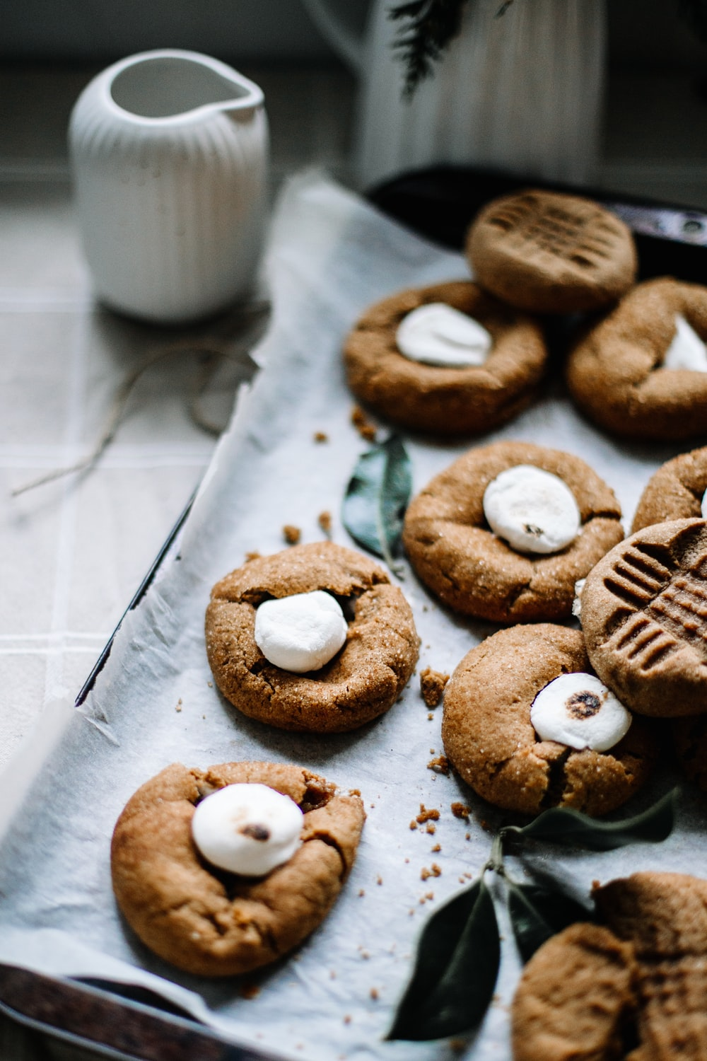 brown cookies on white paper