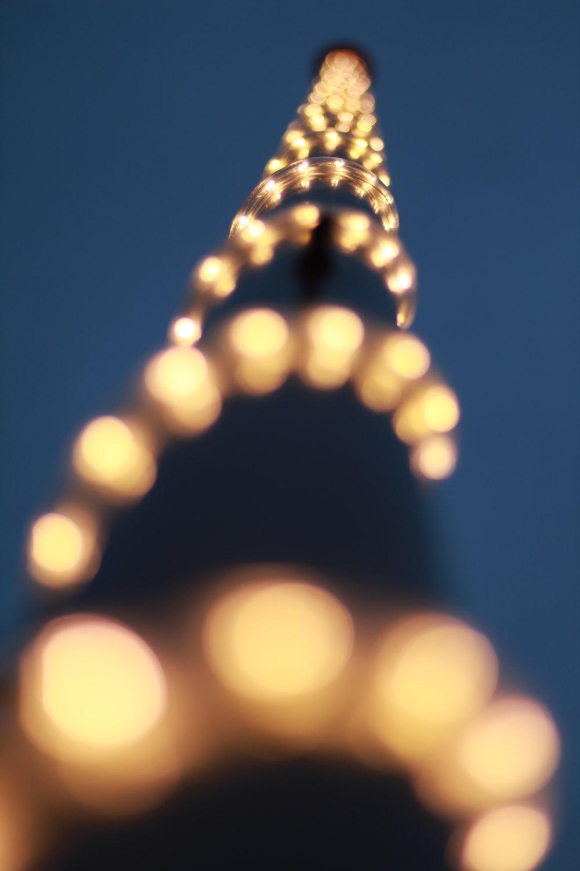 yellow light bokeh during night time