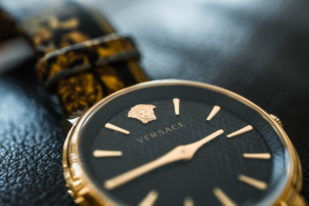 silver and gold chronograph watch