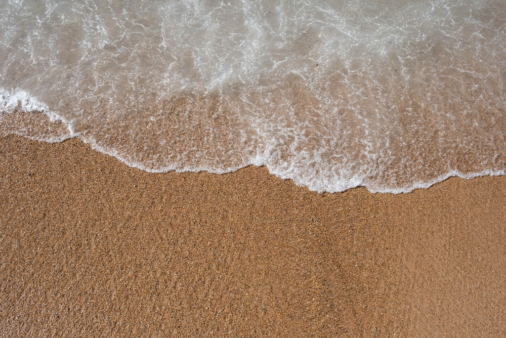 white and brown sand on brown sand