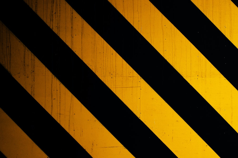 black and yellow striped line