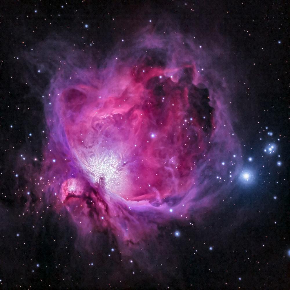 purple and black galaxy illustration