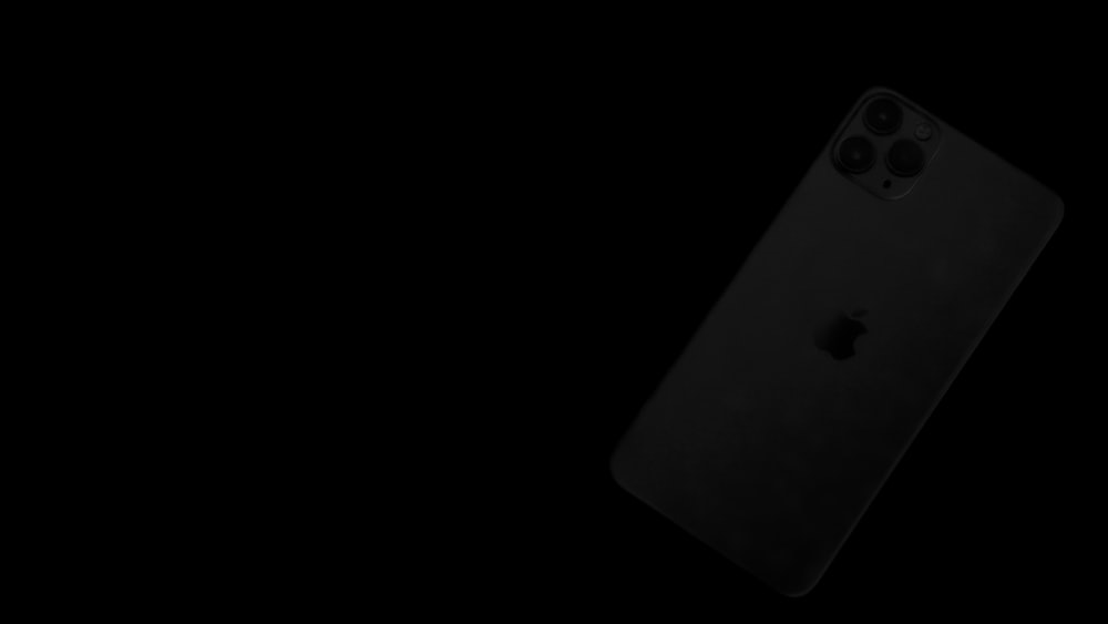 black iphone 7 on white background