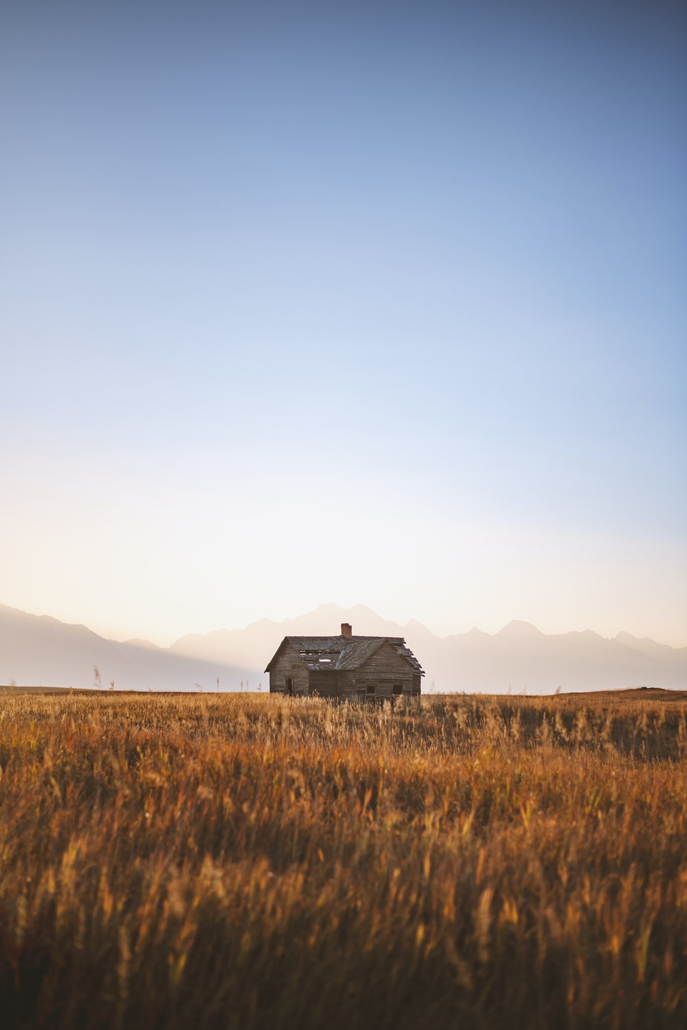 black wooden house on brown grass field during daytime
