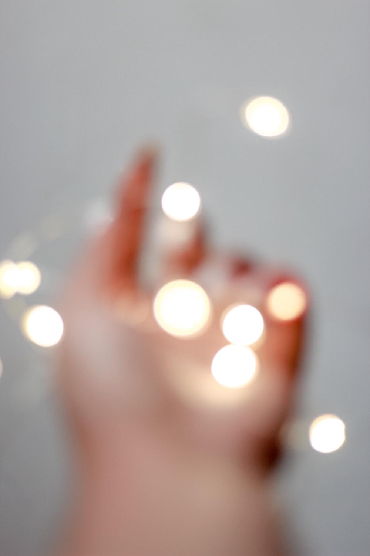 bokeh photography of light bulb