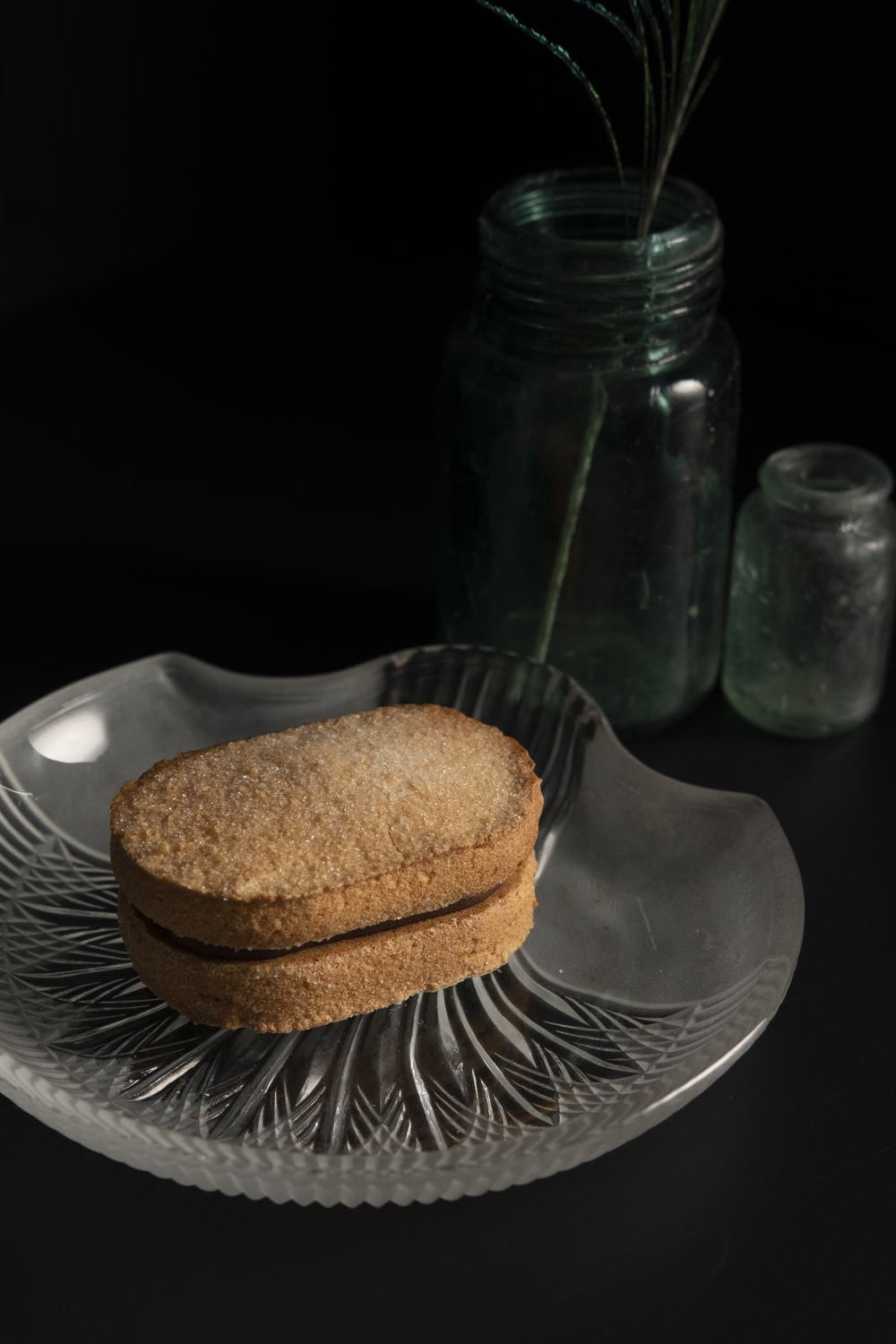 brown bread on brown wooden round plate
