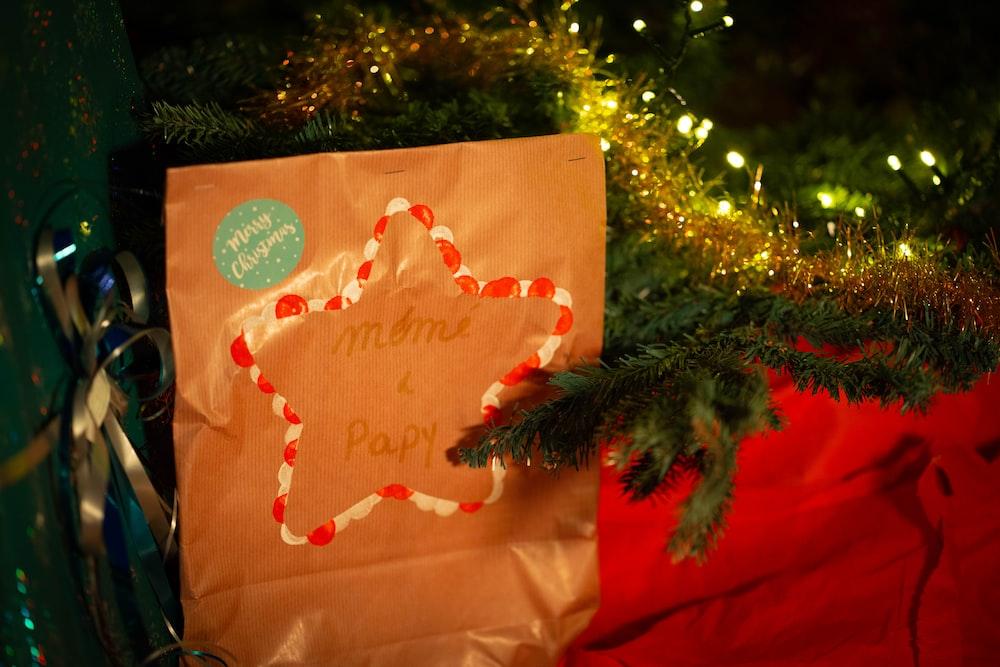 happy birthday greeting card on green christmas tree
