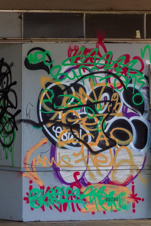 yellow red and green graffiti