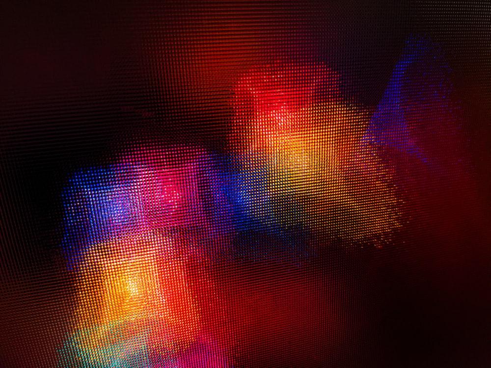 red and purple light digital wallpaper