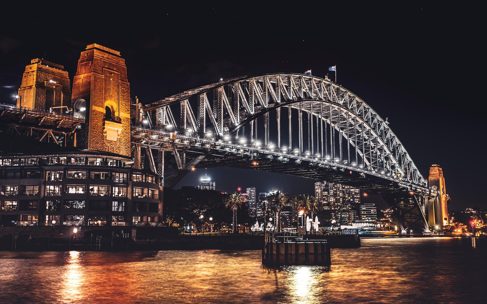 Epic bridge at night. Sydney.