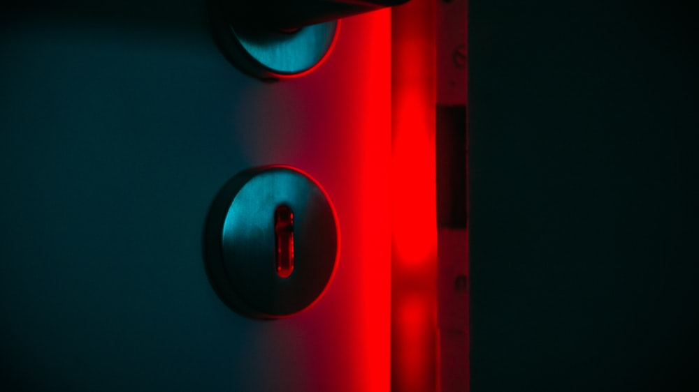 red and black light fixture