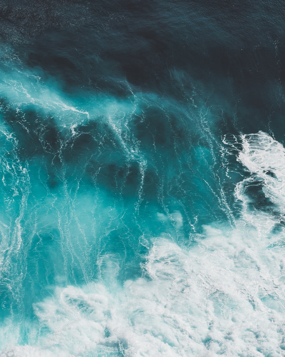blue and white ocean waves
