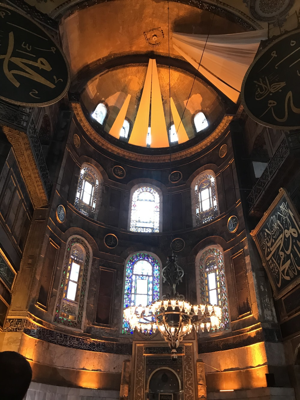 brown and black cathedral interior