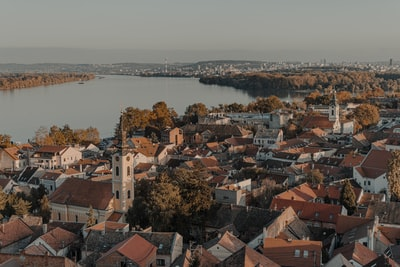 Zemun aerial view of city buildings during daytime