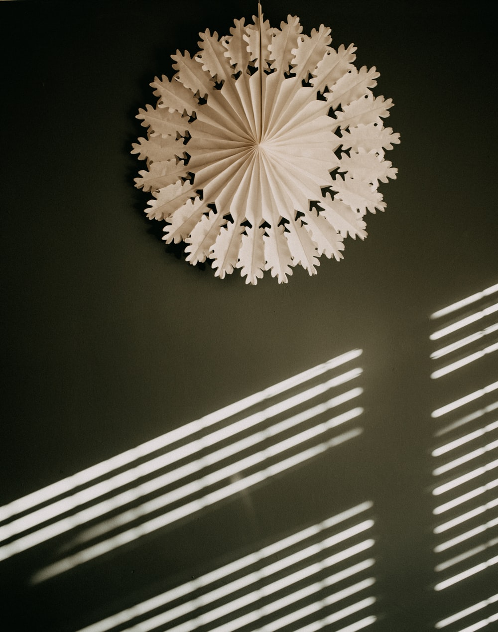 white and black round ceiling lamp