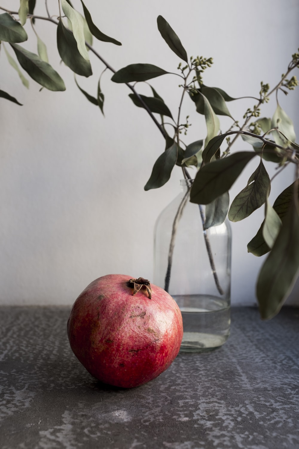 red apple fruit on clear glass bowl